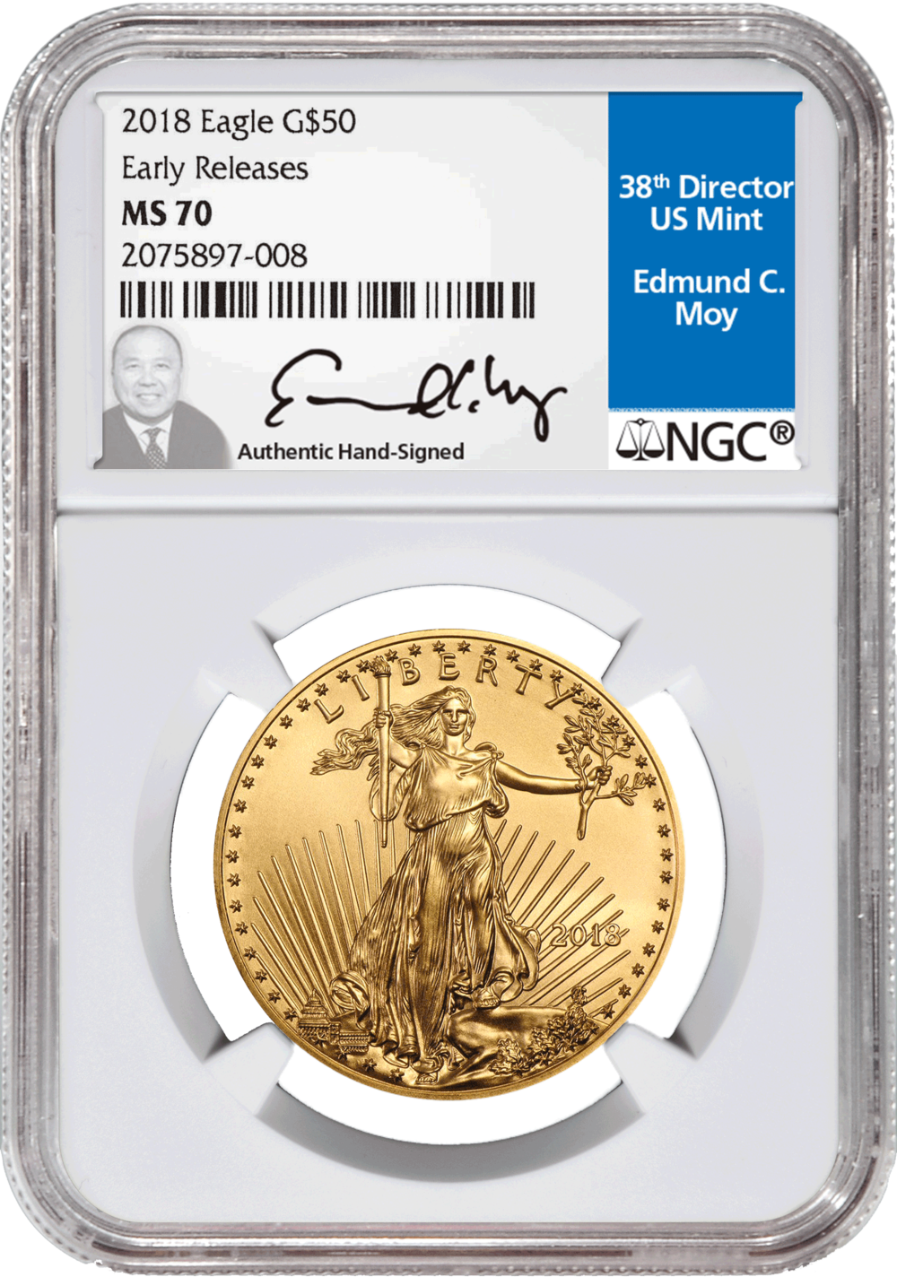 2018 $50 Eagle Gold
