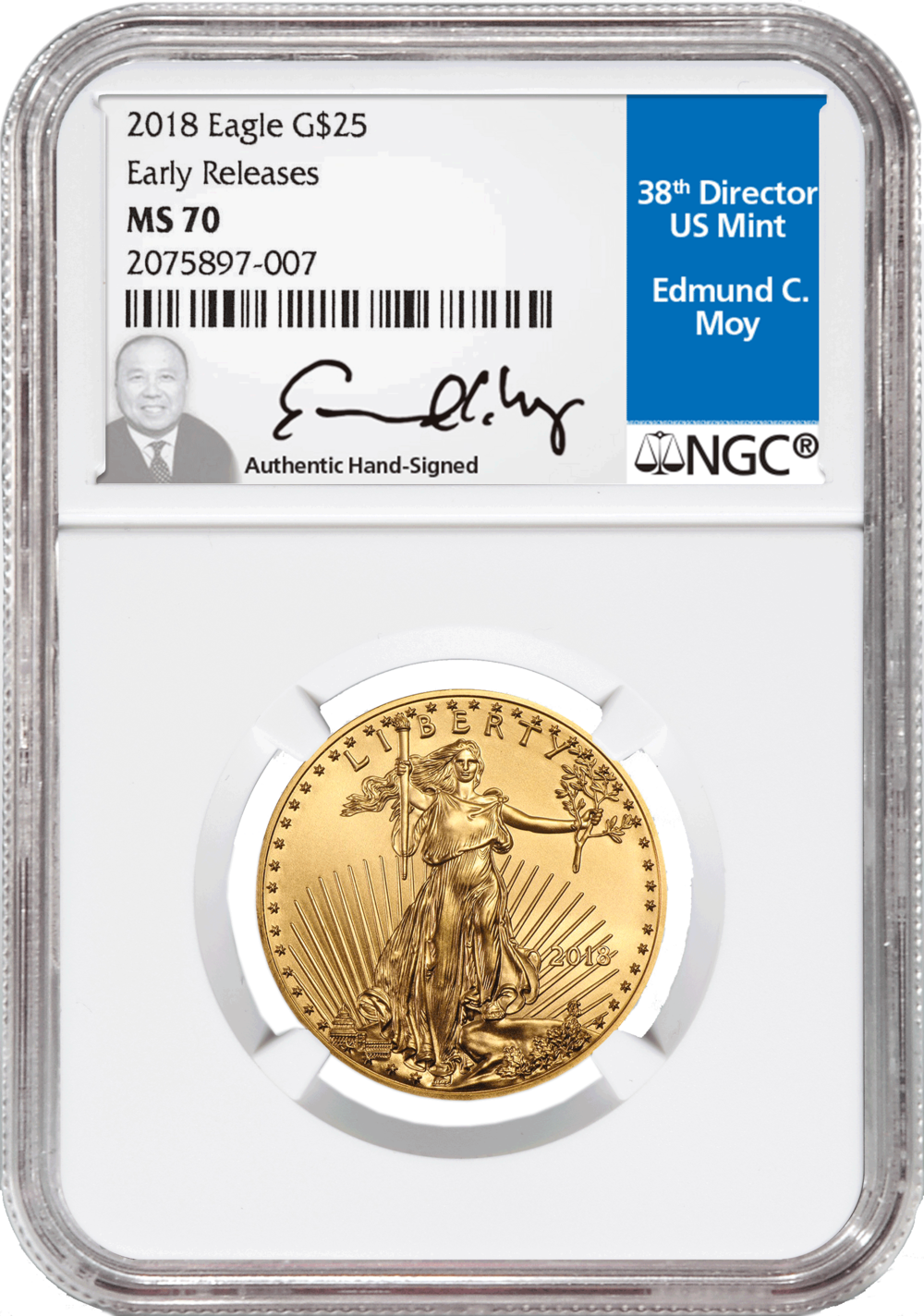 2018 $25 Eagle Gold