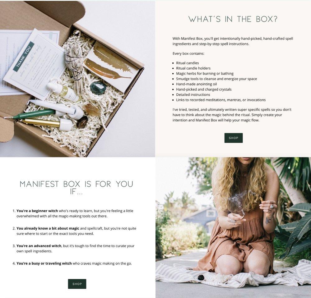 Website Manifest Box
