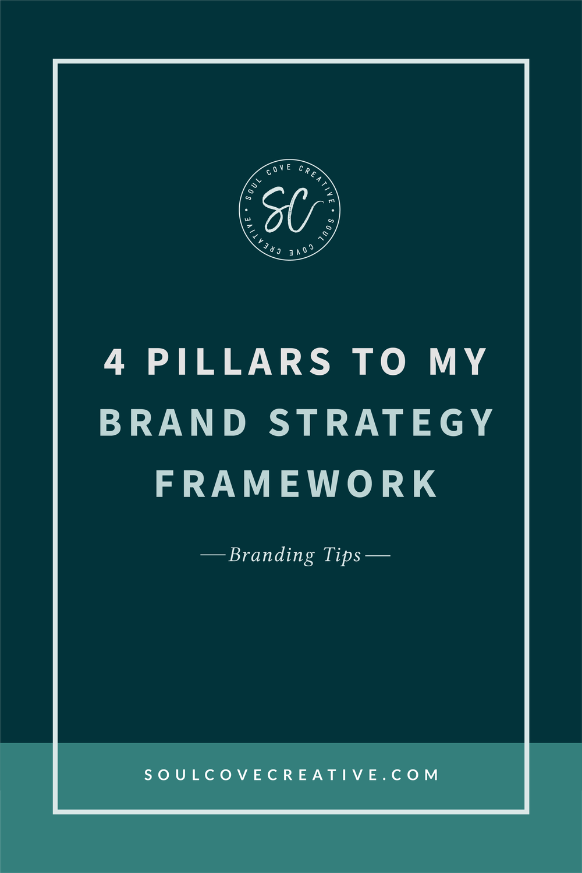 4 Pillars to my Brand Strategy Framework