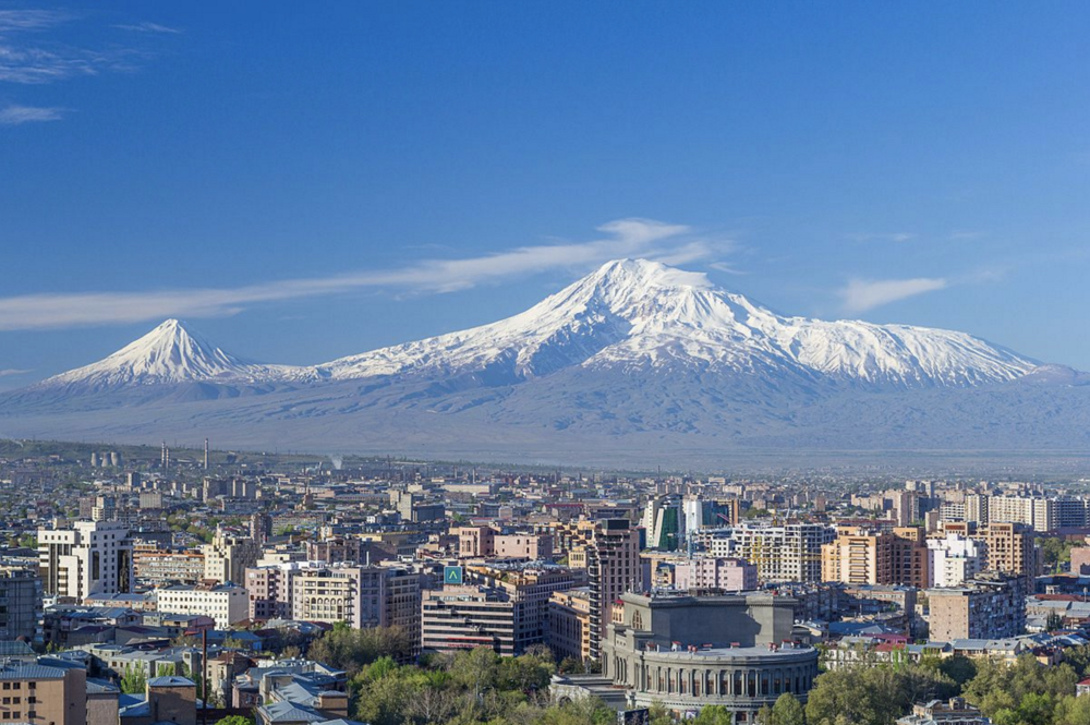 Mt. Ararat as seen from Yerevan, Armenia
