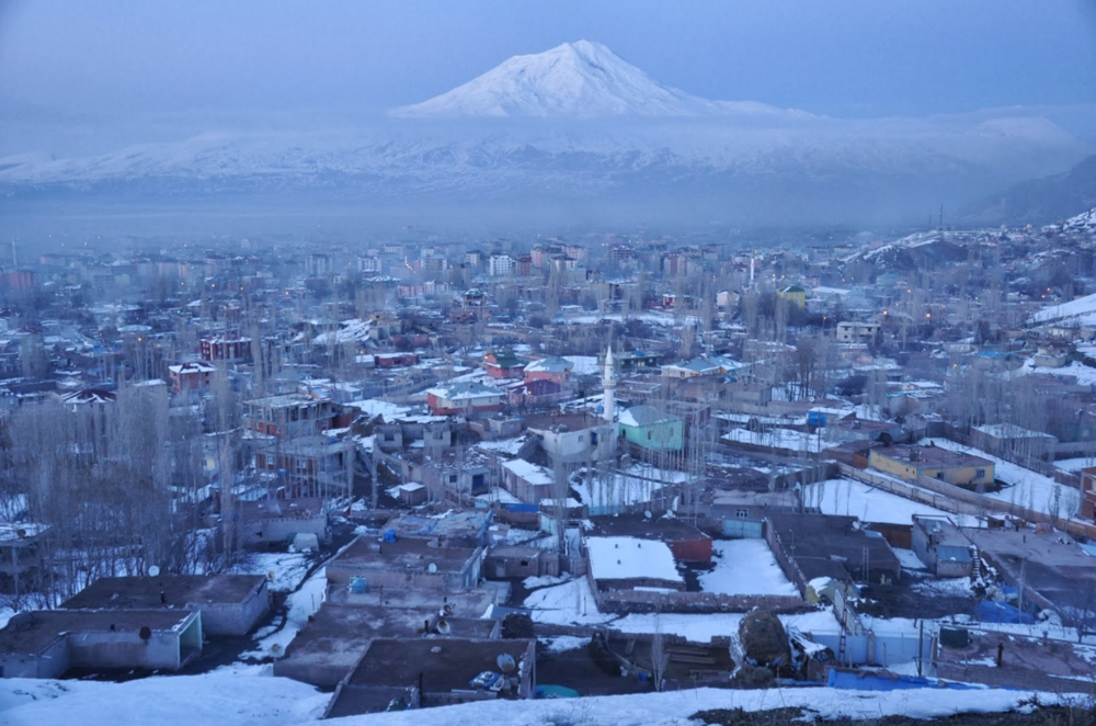 Mt. Ararat as seen from Dogubeyazit, Turkey