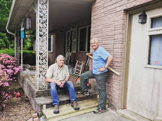 Our volunteers make a huge impact within our home repair program! Whether the job is small or large- they always manage to get it done with a smile on their face. Today we built a step, handrail and installed grab bars indoors. #affordablehousing #hendersonville #volunteers #teamwork #housingassistance