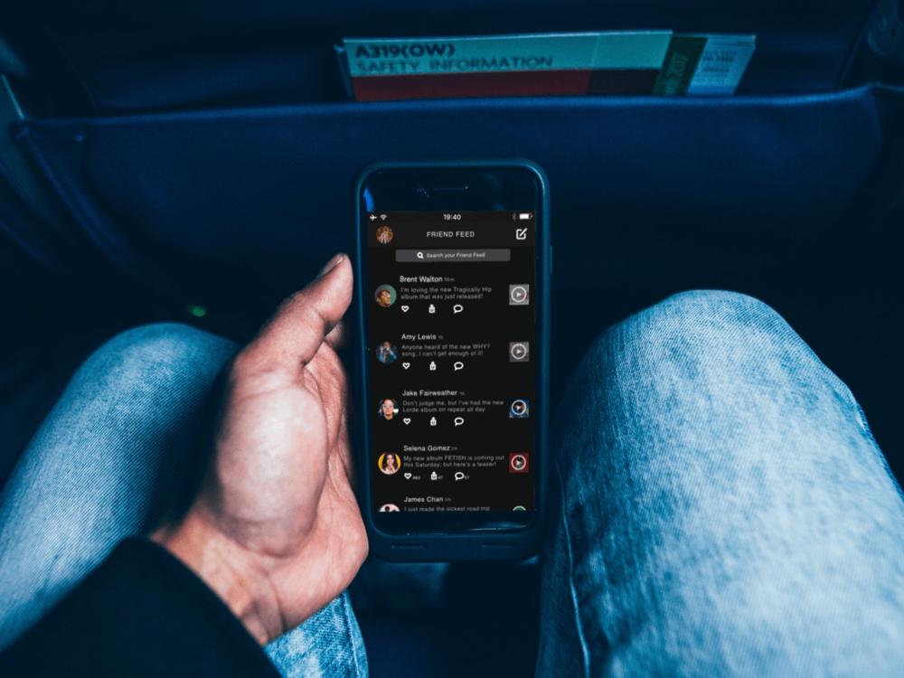 Spotify App: Friend feed feature integration