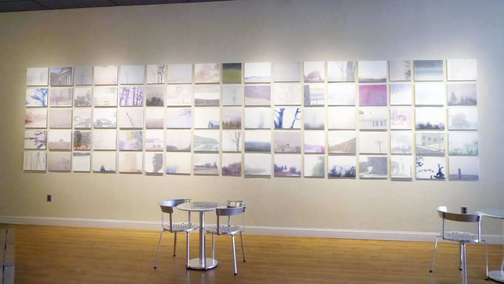 Travelogue project installation view