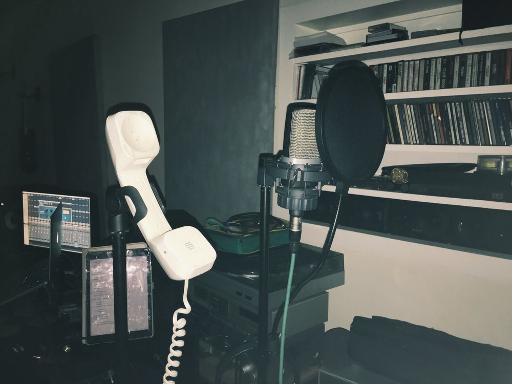 Custom made Tele-Microphone for Vocal Recordings
