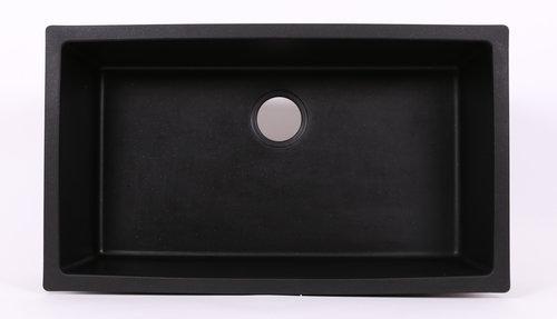Granite Composite Single Bowl Kitchen Sink - Black — 5280 Supply Company