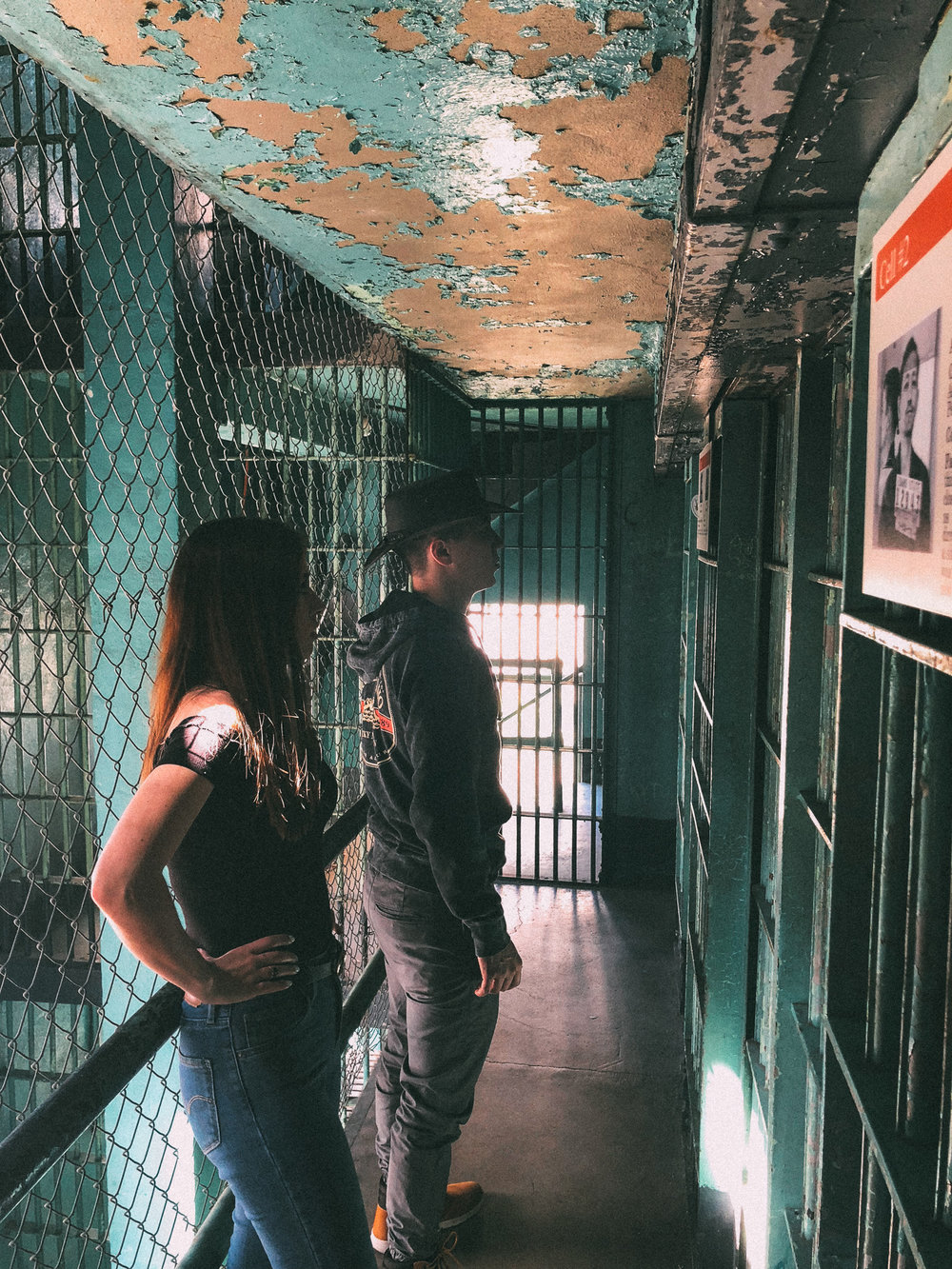 Kent and Emily reading inmate's stories