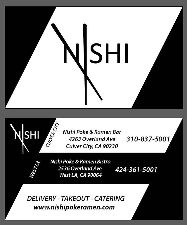 2 locations to serve your poke and ramen cravings!😻😻😻 Nishipokeramen.com  #nishipokeramenbistro #nishipokeramenbar #itsramentime #pokepokepoke