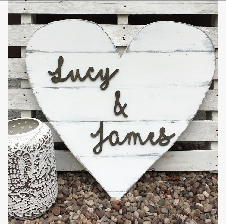 Large Wooden Wedding Heart