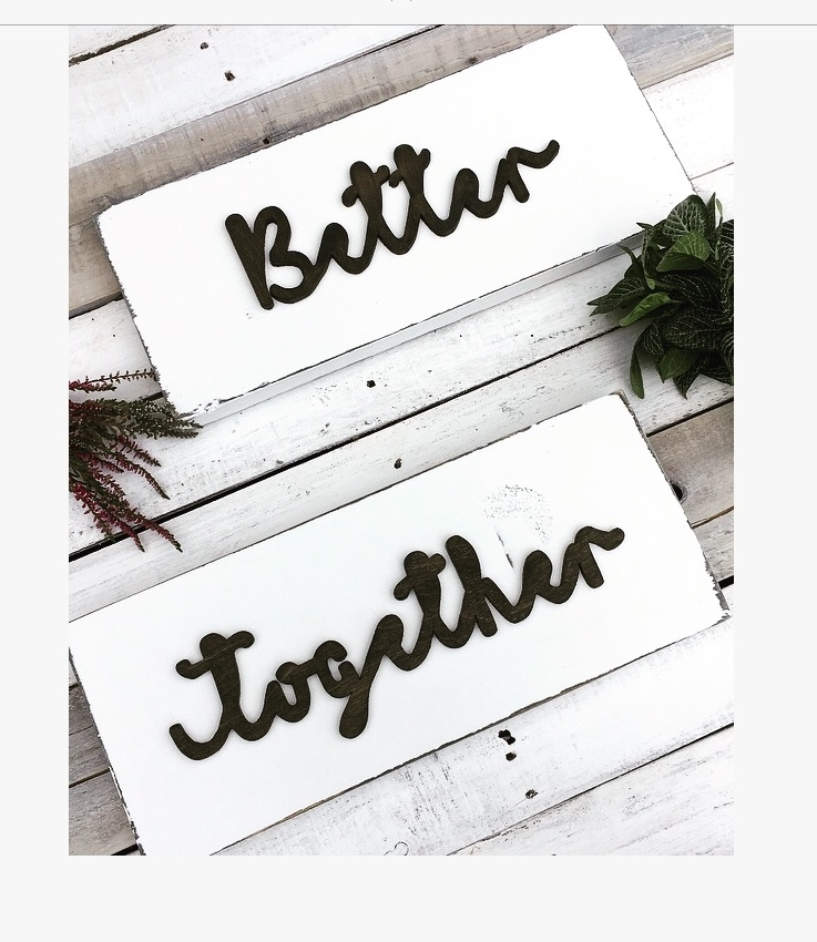 Scandi Boho Wedding Chair Signs