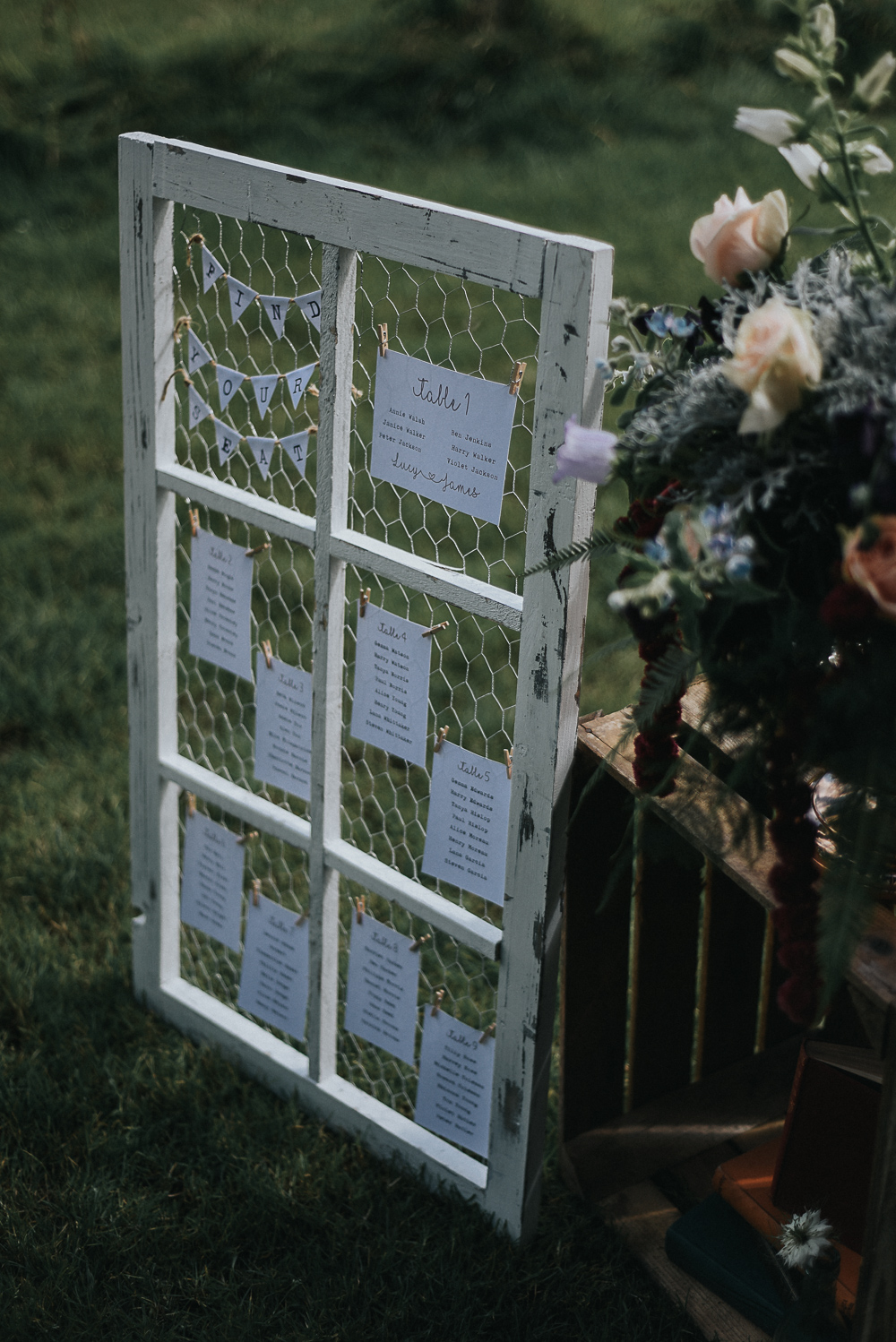 Rustic Distressed Window Wedding
