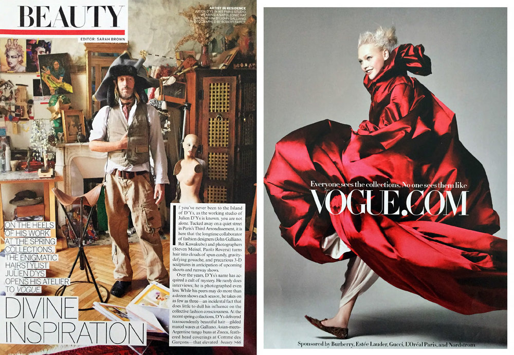 Photographs Robert Fairer (left); Craig McDean (right) for Vogue magazine