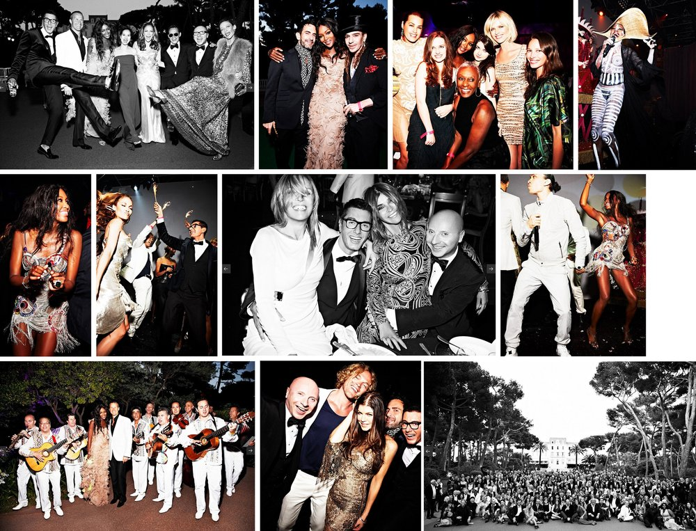 Client: VOGUE maagazine. Role: Assigning Photo Editor. Naomi Campbell's 40th birthday party. Photographer: Ellen von Unwerth for Vogue