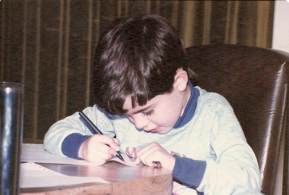 portrait of the artist at age 5.