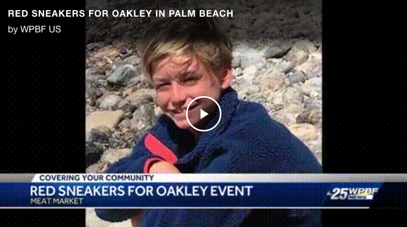 Red Sneakers for Oakley Fundraiser Raises Allergy Awareness - ABC WPBF | Palm Beach, Fla. —The family of a young boy who died from a nut allergy continues to raise awareness.