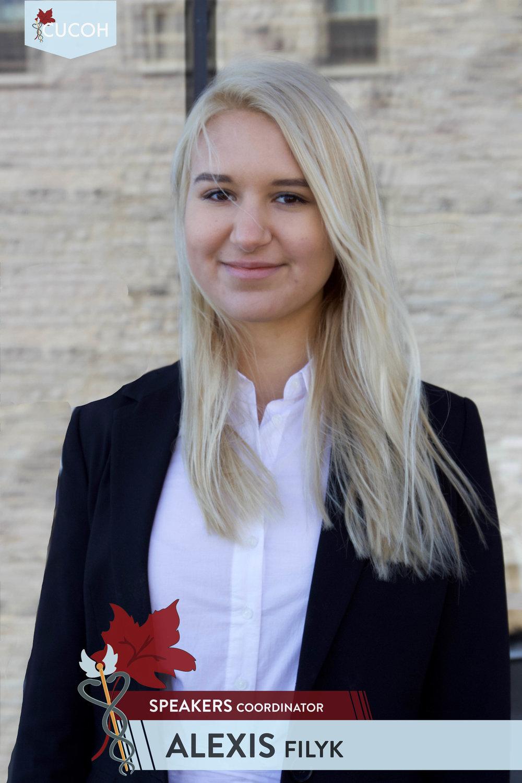 Alexis Filyk, Speakers