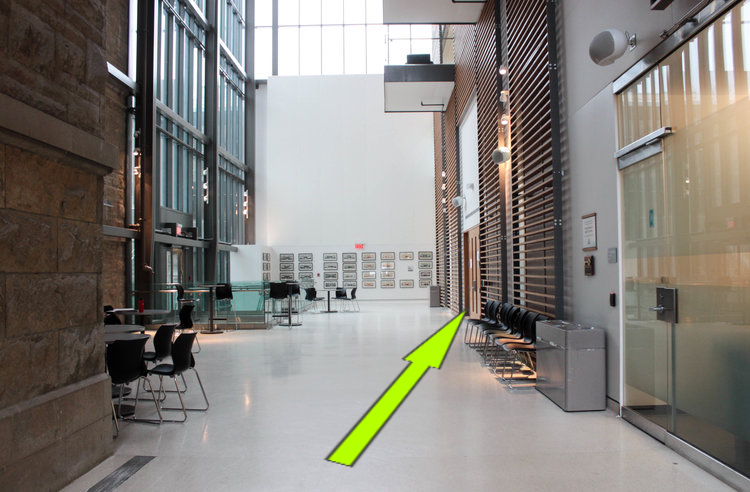 - 2. Enter the lobby and walk towards the David M. C. Walker Atrium.3. Room 132A is located across the hallway from the Atrium.