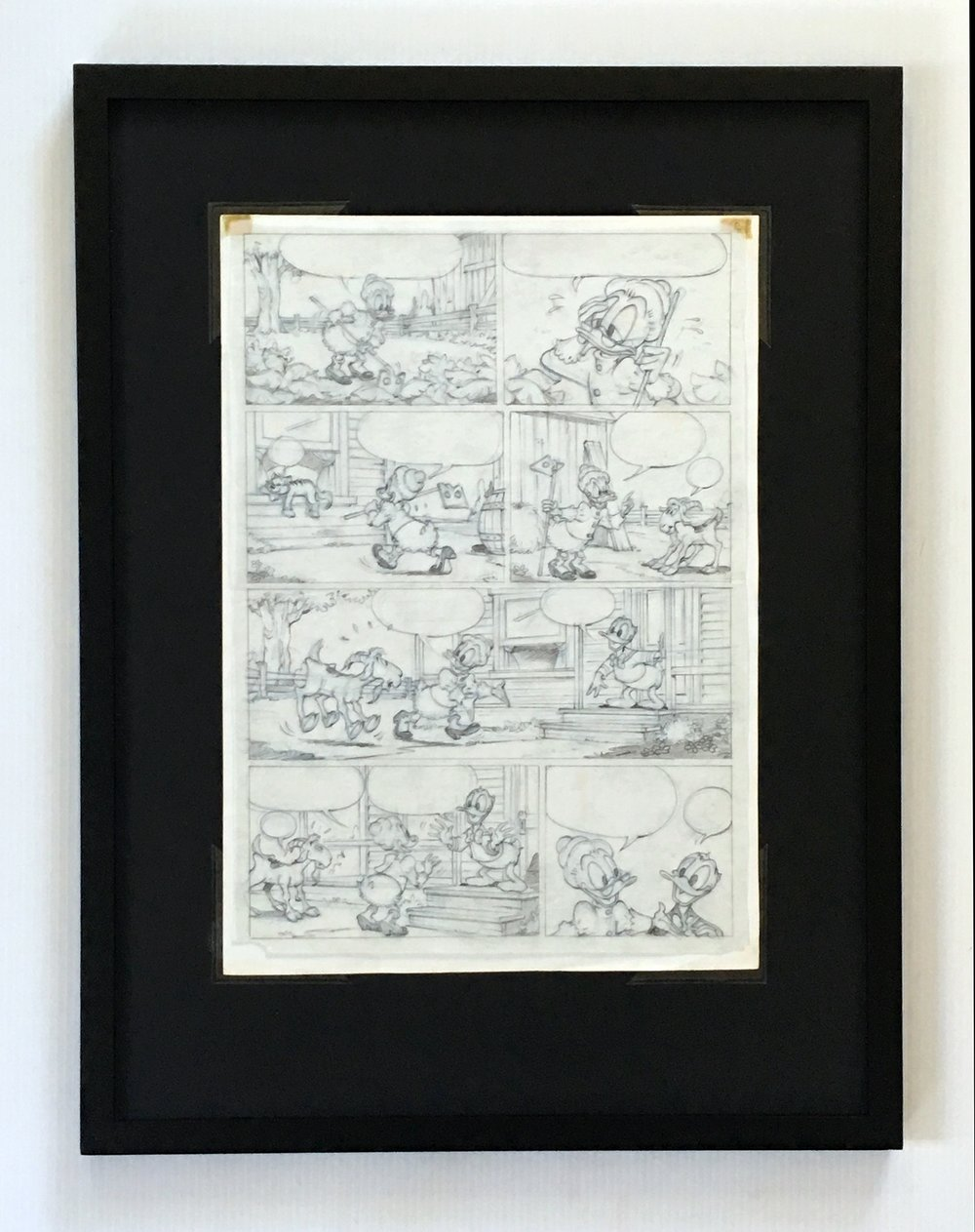 Penciled Layer Displayed on Reverse Side of Inked Layer  - Framing Materials Sold Separately