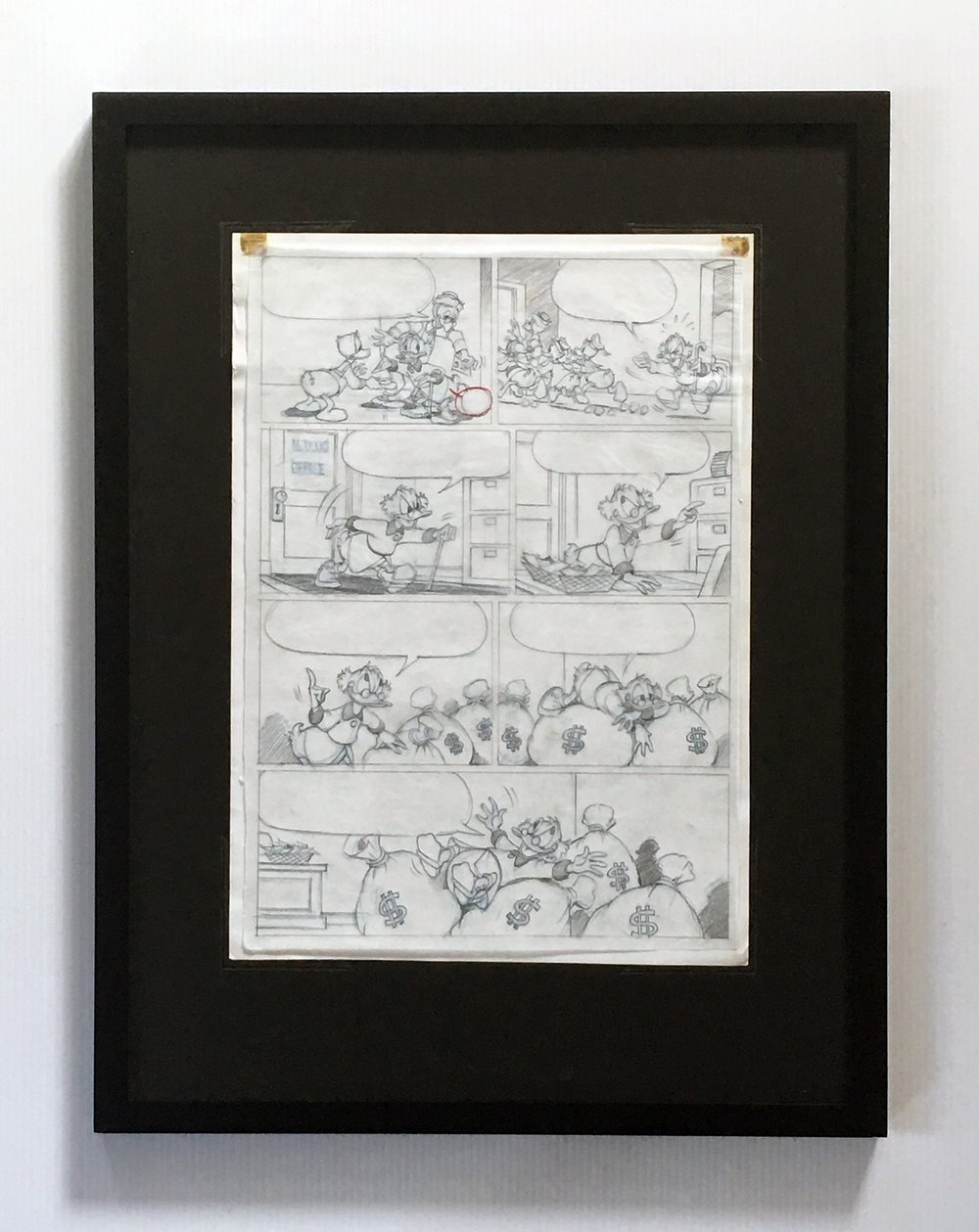 Penciled Layer Displayed on Reverse Side of Inked Layer - (Framing Materials Sold Separately)