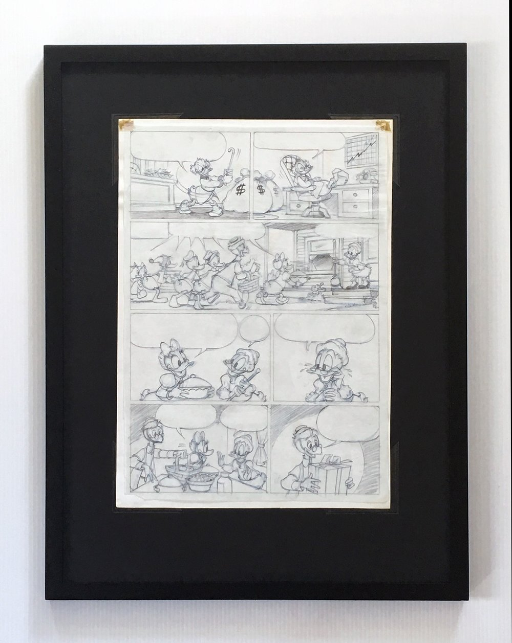 Penciled Layer Displayed on Reverse Side of Inked Layer