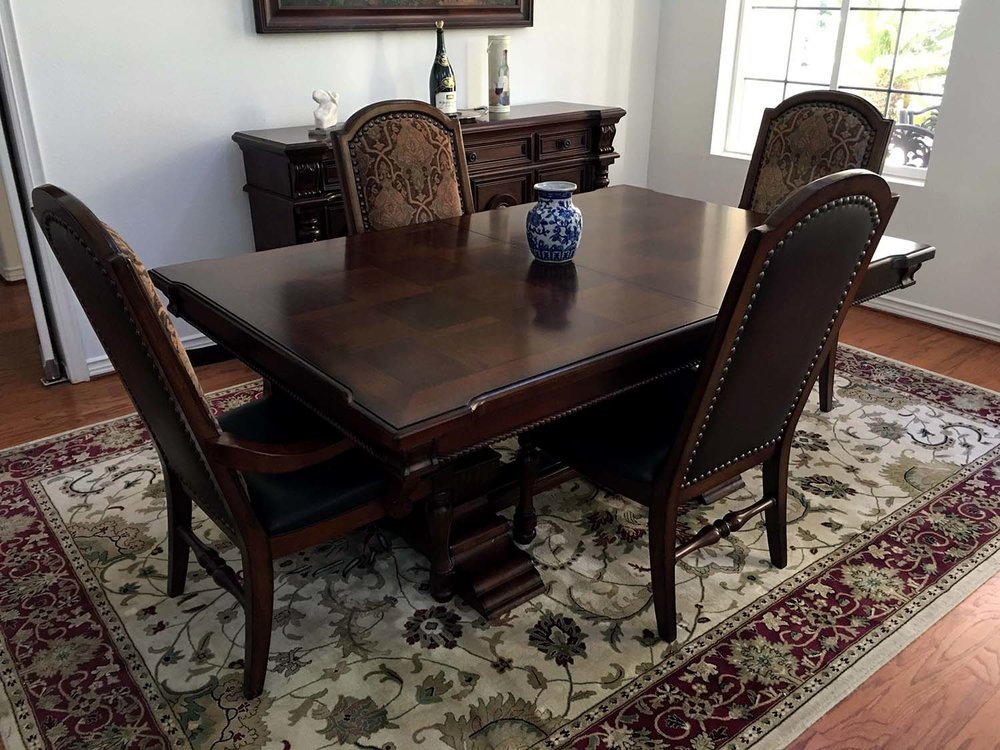 Table, Six Chairs and Two Leaves    $1,179