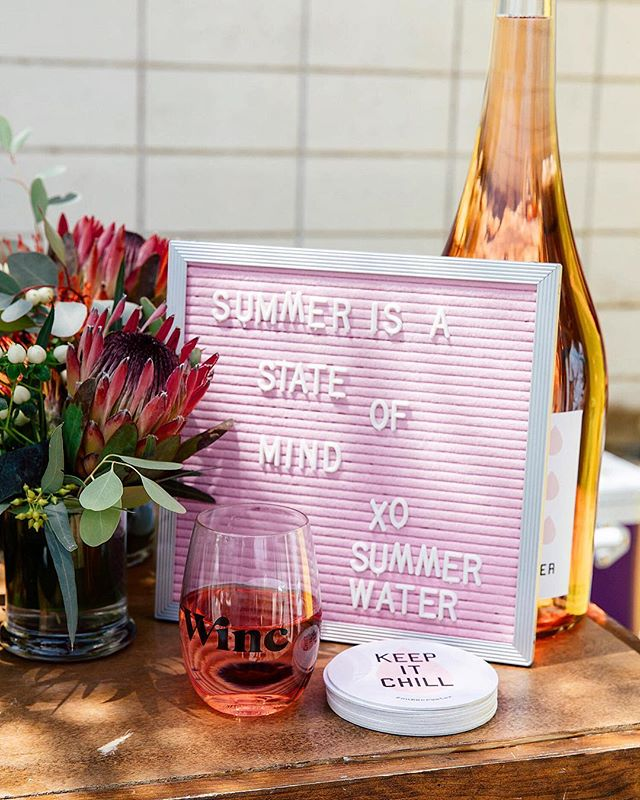 Stop and drink the Rosé it's National Wine Day! 😍🍷🎊 #winc #summerwater #rosé