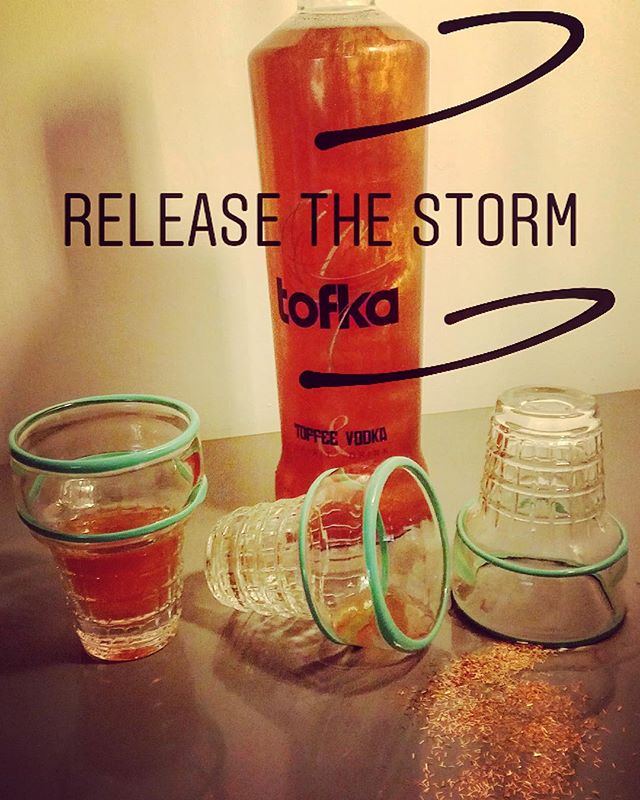 Release the storm.....Tofka style! #tofkavodka #vodkanight