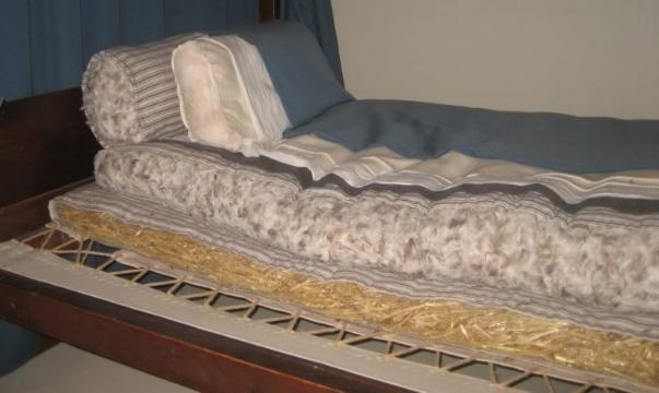A corn husk mattress!
