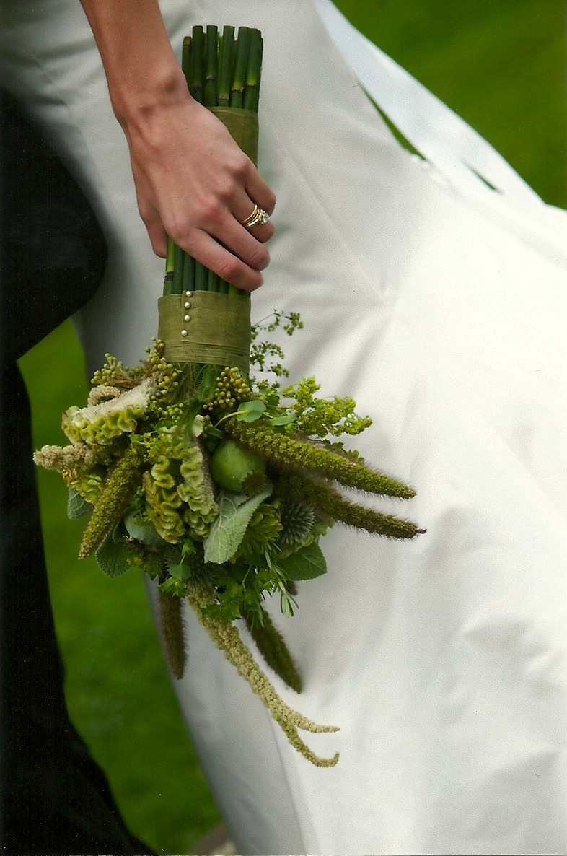 green funky bouquet