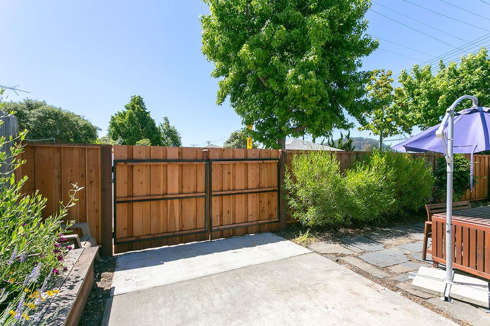 REAR GATED ENTRY AND PARKING