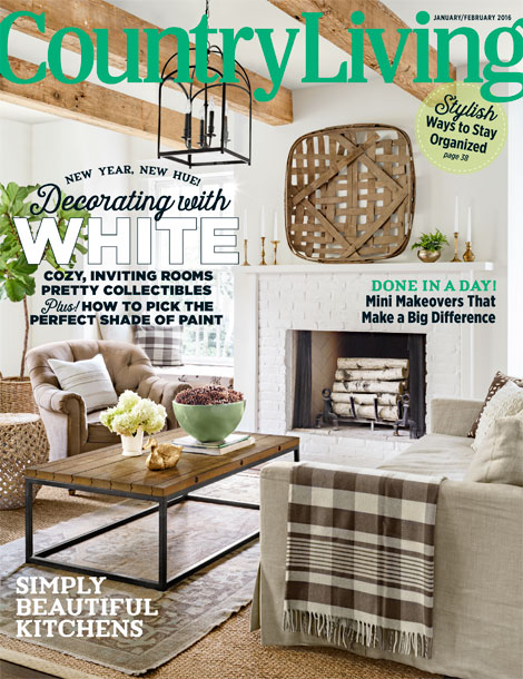 Julie Couch- Country Living Magazine Cover February 2016