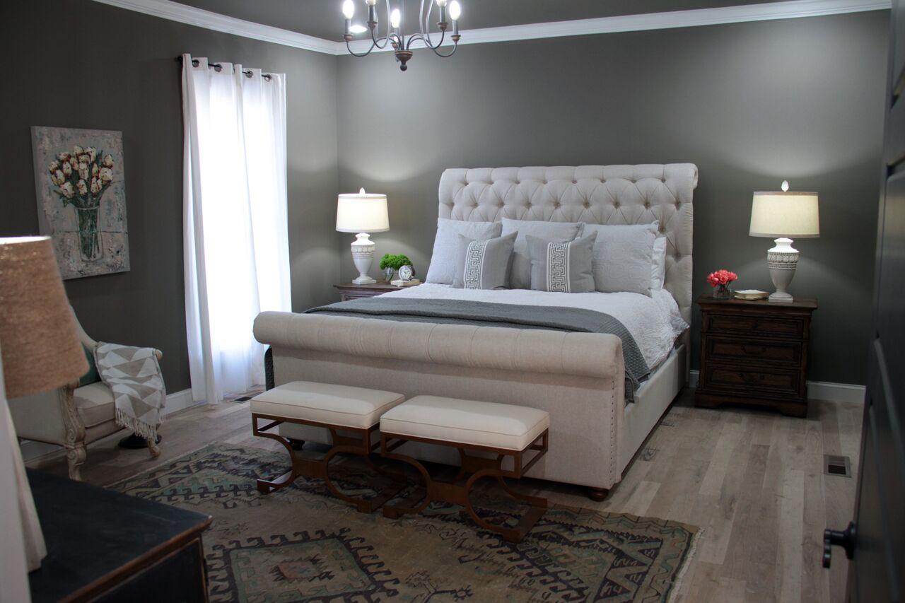 julie couch master bedroom Nashville Flipped episode 9