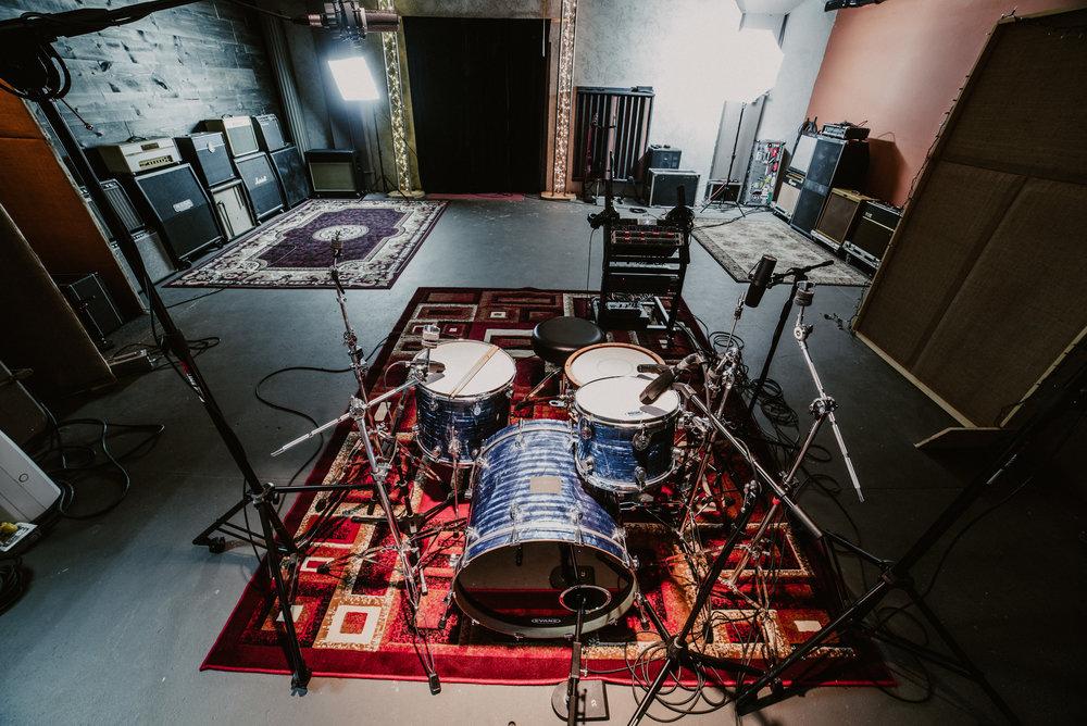 Live Room Drum Setup
