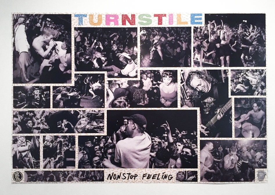 - Photography featured on a poster used for the re-release of TURNSTILE's Nonstop Feeling on cassette (top row, second from the left).