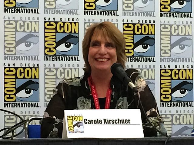 Carole Kirschner on panel at Sand Diego Comic Con