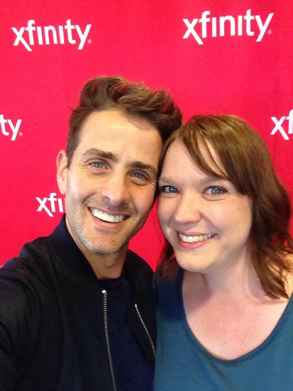 Kerrie and Joey McIntyre from New Kids on the Block