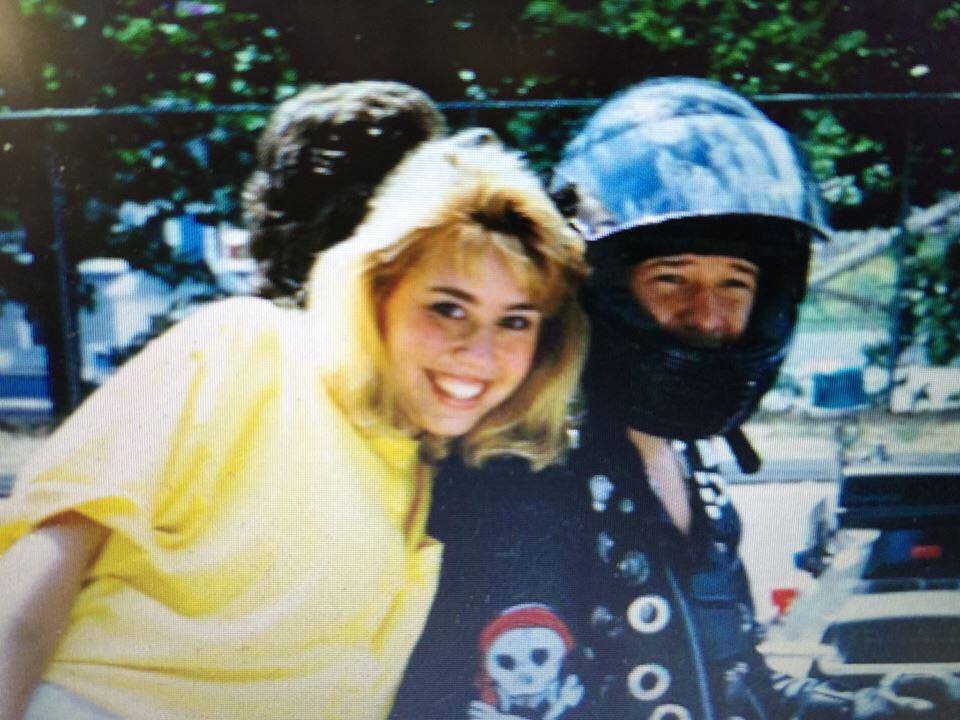 Kara & Donnie Wahlberg - another motorcycle/Lake Compounce sighting in 1990!