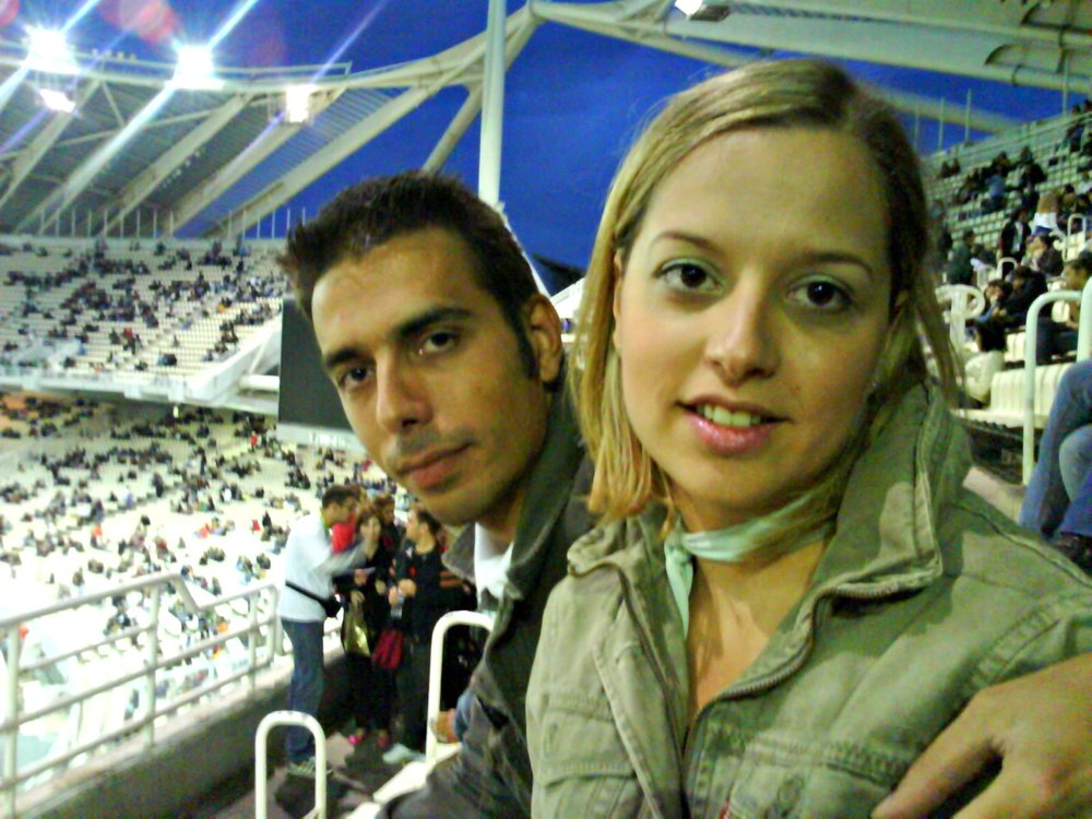 Madonna Concert - Me and my partner in crime, my brother Spiros.