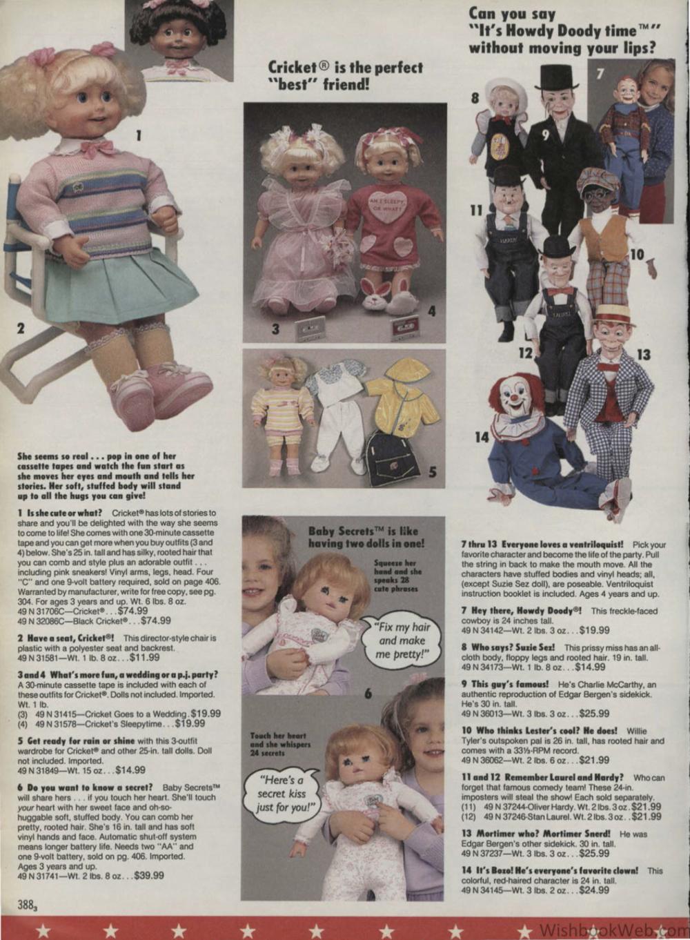 Nikki - Cricket the Talking Doll - wishbookweb.com