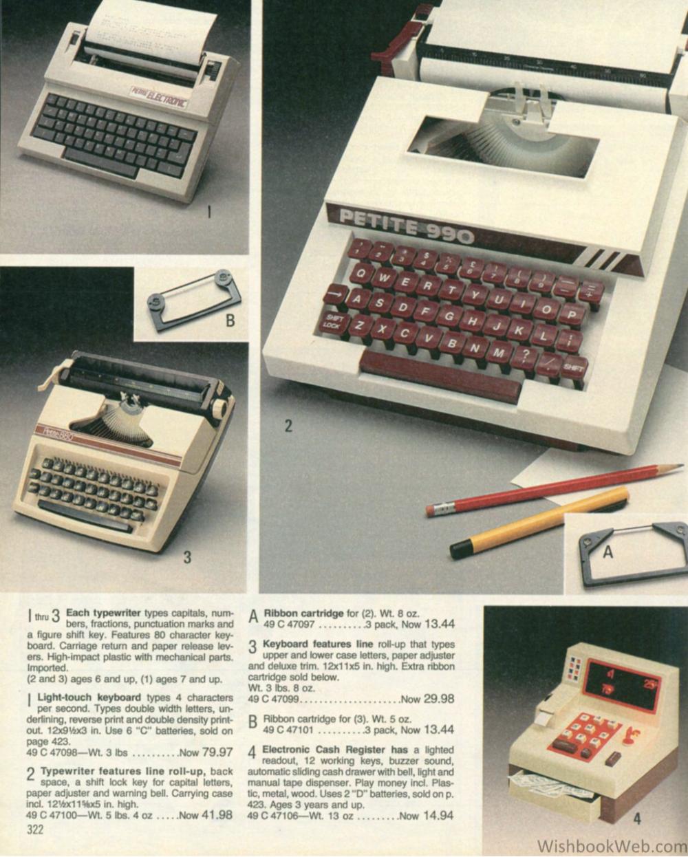 Nikki - Cash Register & Typewriter - wishbookweb.com