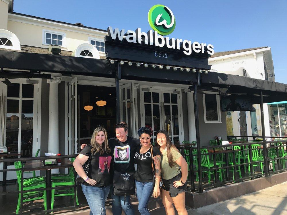 The Gang at Wahlburgers - Kristine, Nikki, Charlene, Mandy