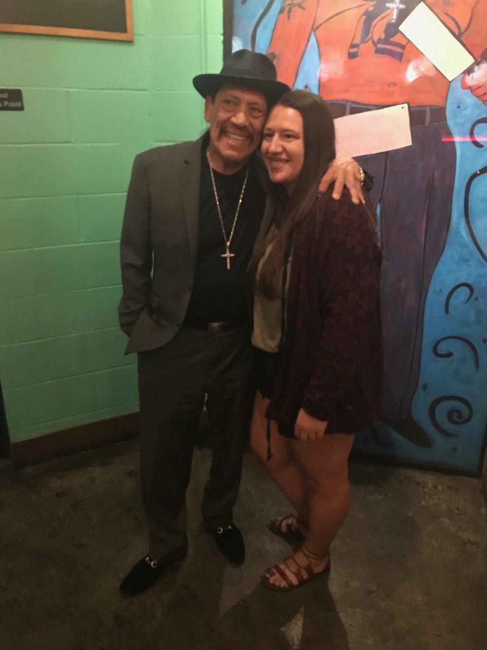 Mandy and Danny Trejo at Trejo's Cantina