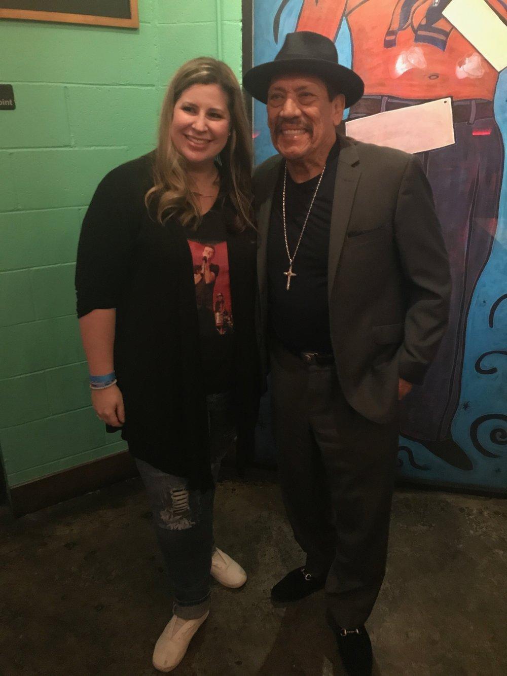 Kristine and Danny Trejo at Trejo's Cantina