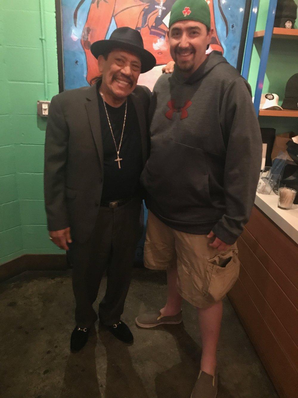 Kevin and Danny Trejo at Trejo's Cantina
