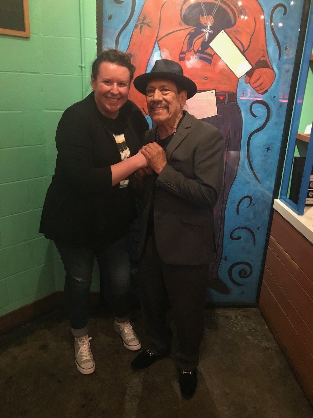 Nikki and Danny Trejo at Trejo's Cantina