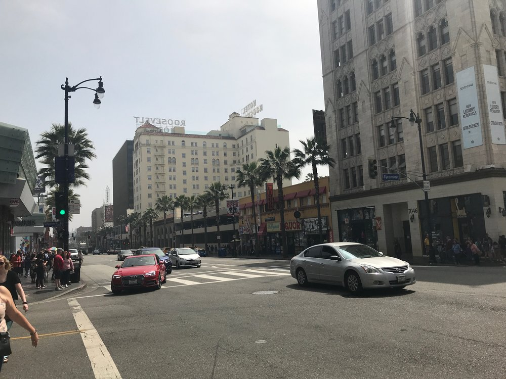 Hollywood Blvd - There's the Roosevelt (pretty sure it's haunted)
