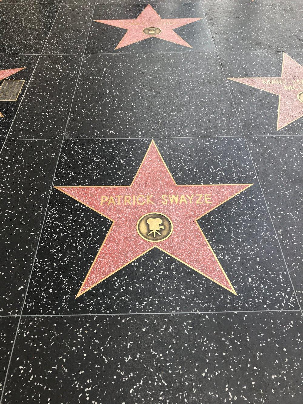 #NationalTreasure Patrick Swayze on Hollywood Blvd.