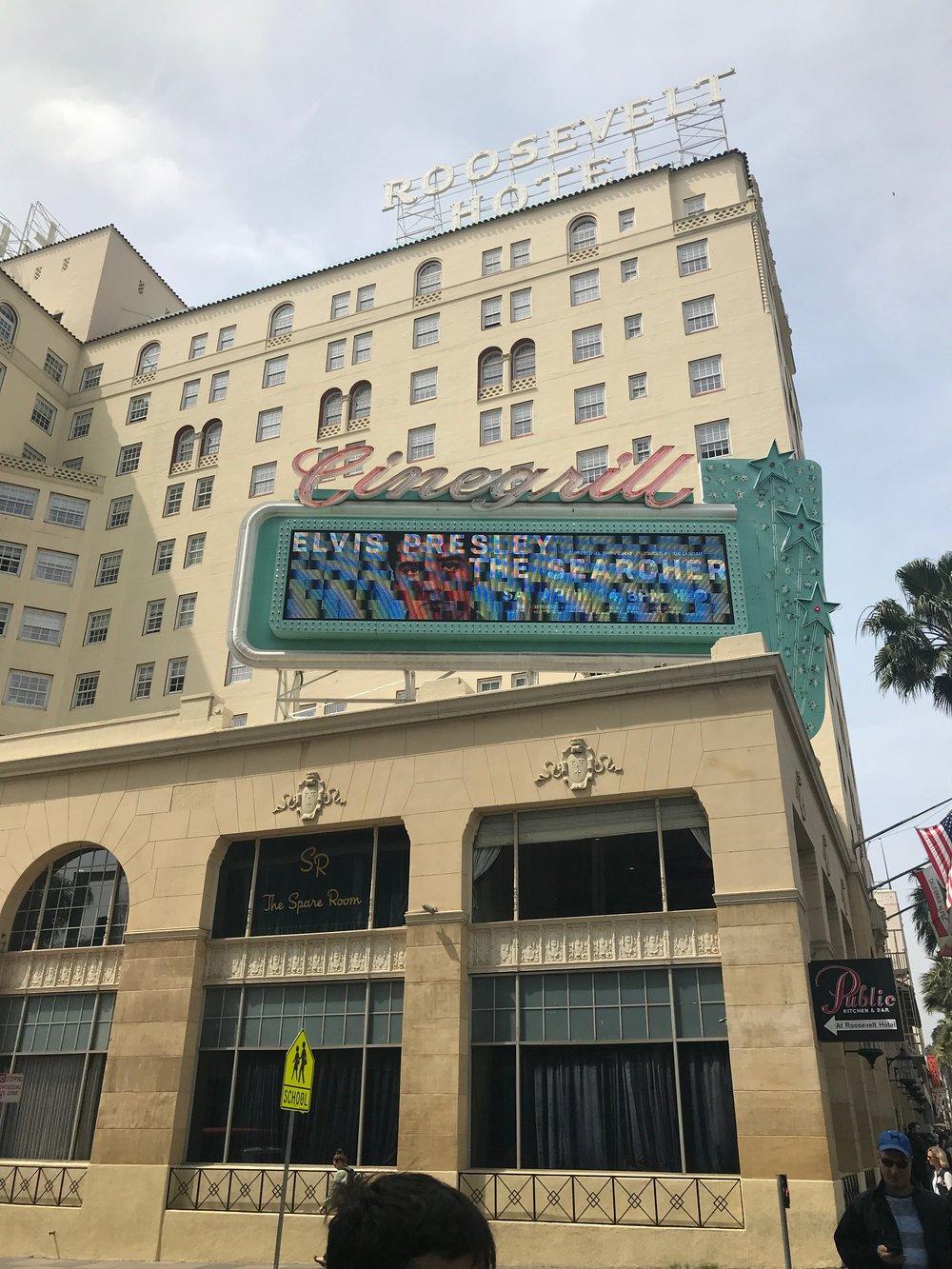 Is Elvis Following Us?  Roosevelt Hotel - Hollywood Blvd