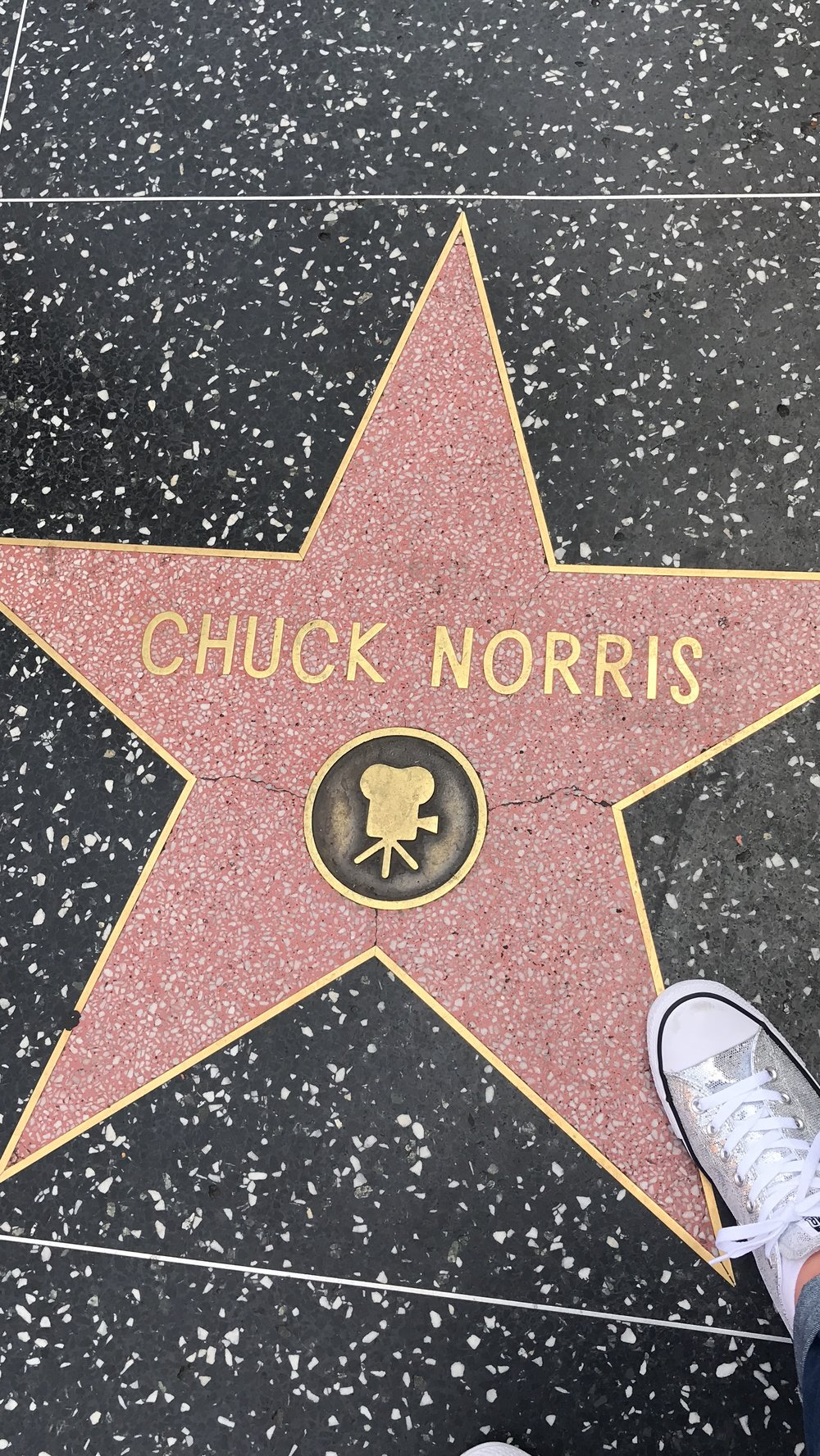 Chuck Norris on Hollywood Walk of Fame - Hollywood Blvd